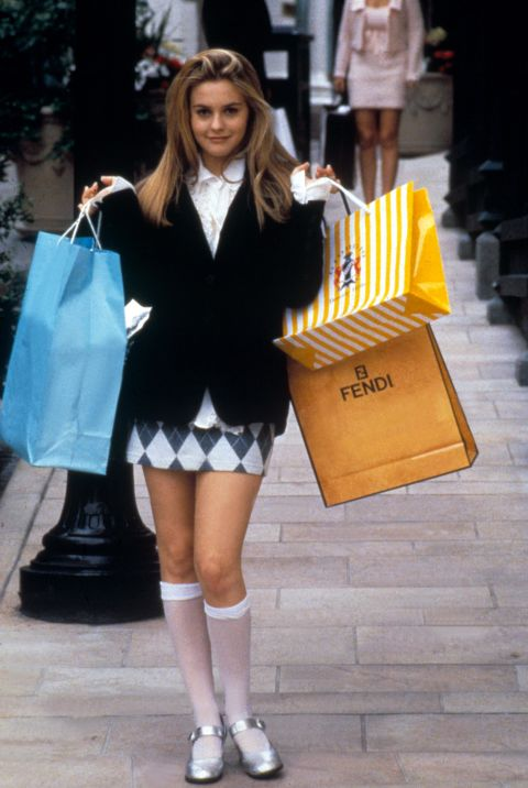 The schoolgirl look was only further fueled by Cher Horowitz's knee-socks and mary-janes in Clueless.