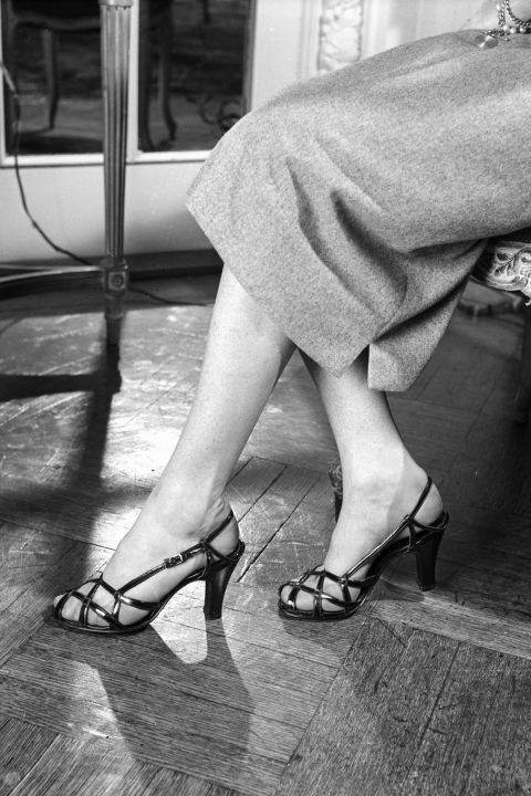 Shoe styles started lightening up in the 40s, when cut-outs turned into the first renditions of the strappy sandal.