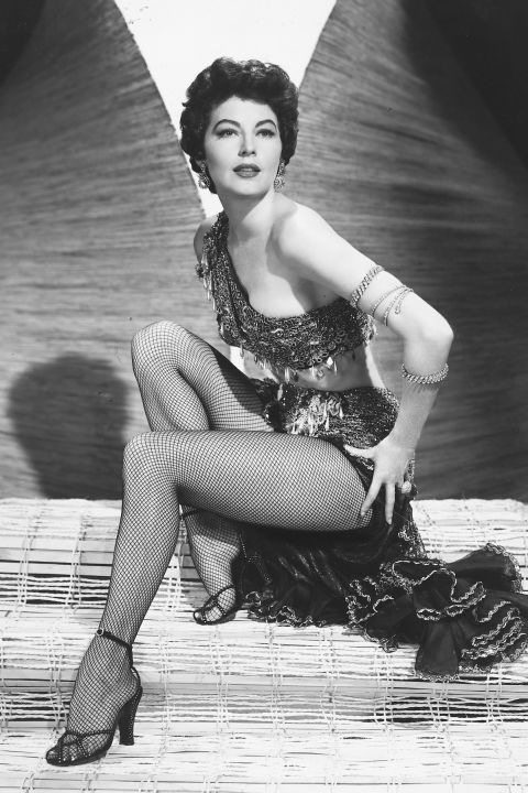 With the 1950s came a rush of femininity. Ava Gardner delivered sex appeal in droves in these fishnets and delicate ankle-strap sandals.