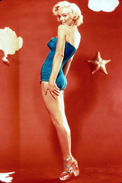 Marilyn Monroe looking lovely in Lucite heels.