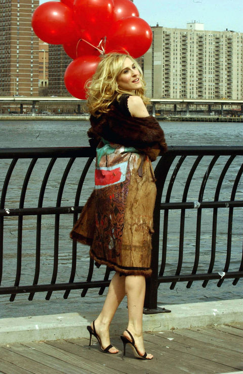 Another chic hallmark of the early aughts? Carrie Bradshaw's ever-present Manolos.