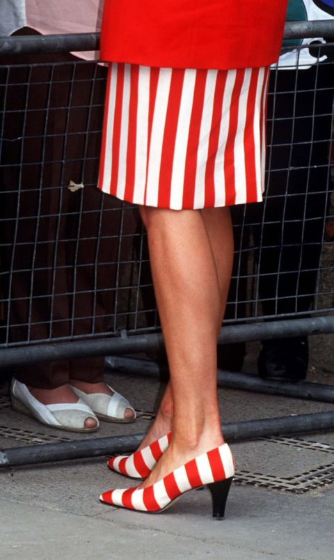 This kind of coordination is next level...and overkill. (Those feet belong to Princess Diana.)