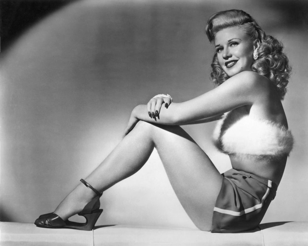 One of the most unique shoe styles we've seen thus far–Ginger Rogers' wedges have no mid-sole!
