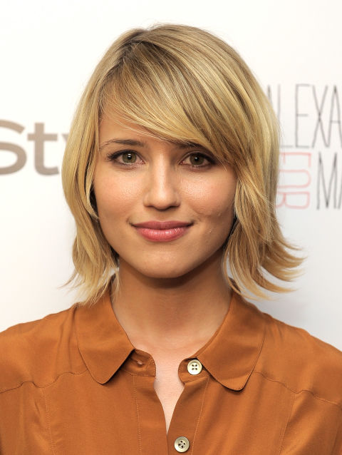 The Glee star keeps it simple and sweet with a light feathery bob with just the right amount of layered texture.