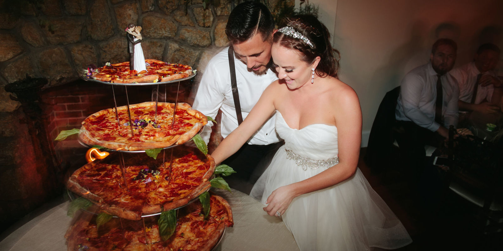 This Couple Had A Pizza Instead Of Cake At Their Wedding