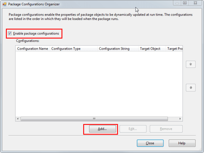 2 Enable Package Configuration