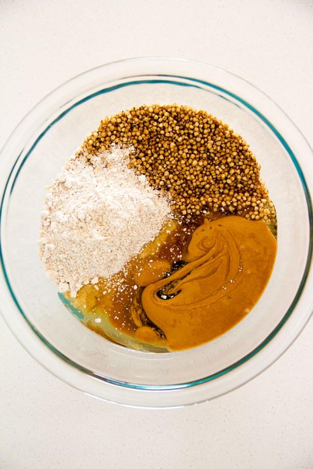 Barritas de quinoa, avena y chocolate