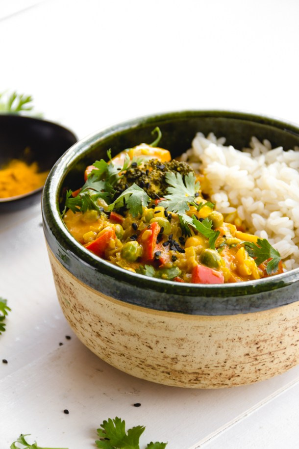 curry de vegetales