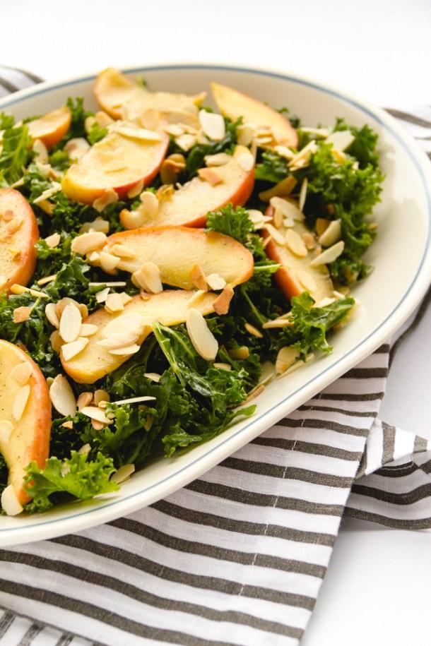 Ensalada de kale y manzana