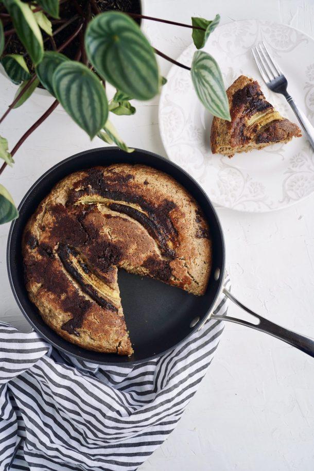 Pan de banano saludable en sartén