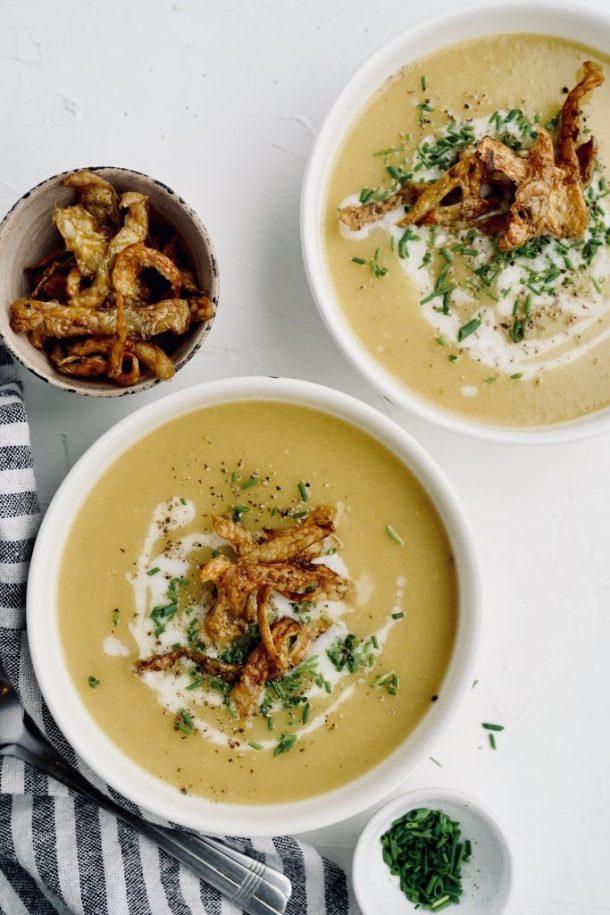 sopa de papa y vegetales