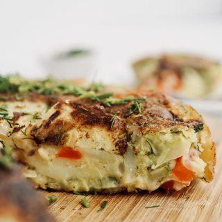 tortilla de papa vegana