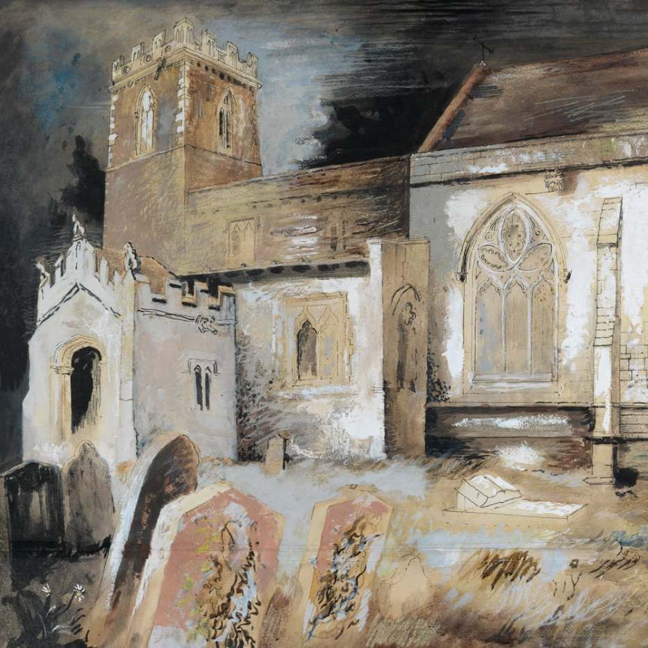 Cotterstock Church (1940) by John Piper