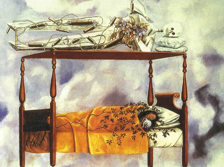 The Dream (The Bed) (1940) by Frida Kahlo