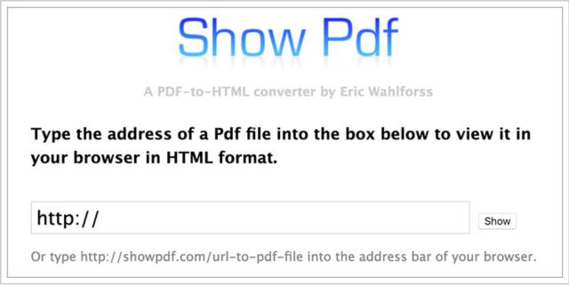 show pdf file