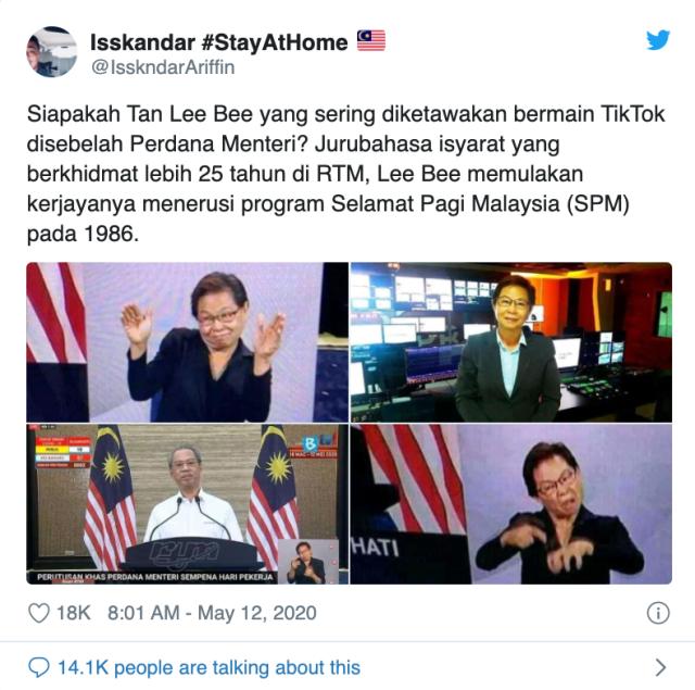 Tan Lee Bee: Temui Jurubahasa Bahasa Isyarat yang Dikenali di TV Nasional