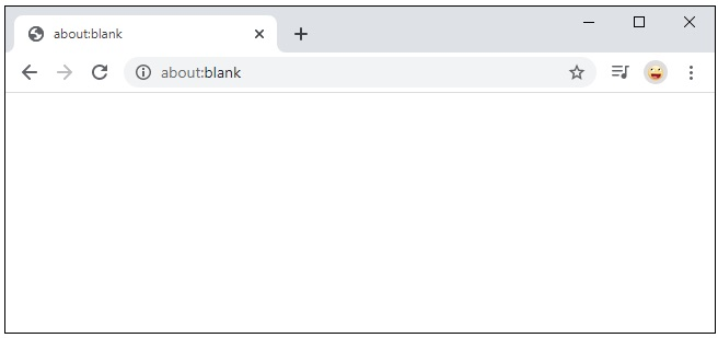 What Is about:blank?