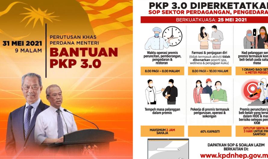 Bantuan PKP 3.0: Senarai Bantuan PEMERKASA