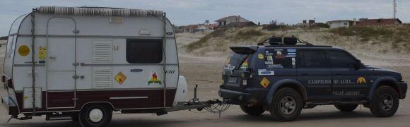 Trailer KG-330 + PAjero towing
