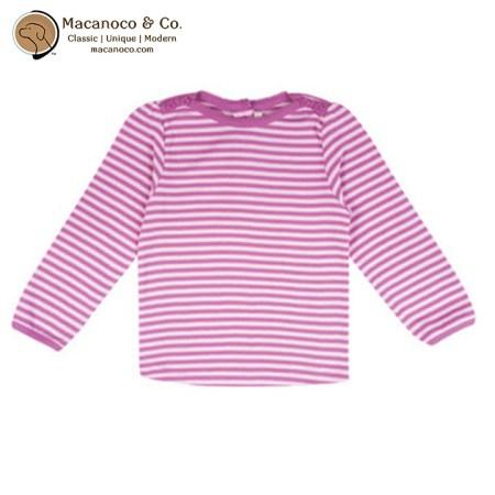 B8050 Jojo Maman Bebe Nautical Stripe Top Cream Rose 1
