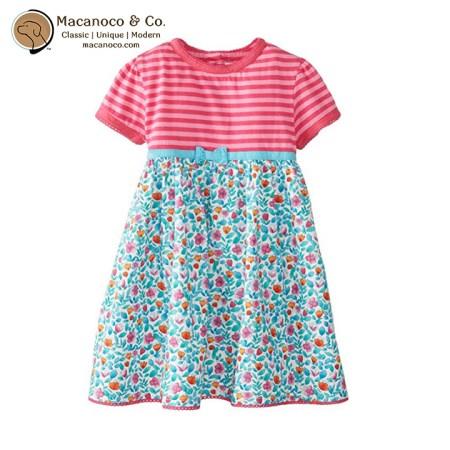 D2100 TUR Floral T-Shirt Dress Turquoise 1