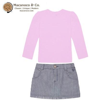 D2258 PIN D2034 BLU Pretty Long Sleeve Top and Nautical Stripe Mini Skirt 1