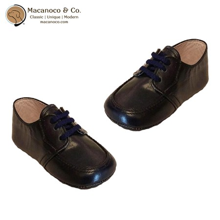 020 Lace Up Leather Shoe Navy 1