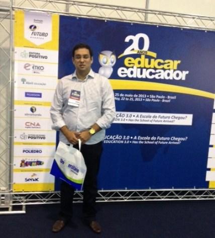 Secretário de Educação Rodrigo Aladim participou da Feira Educar Educador 2013