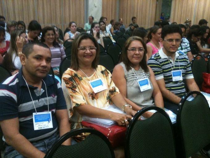 Representantes de Macau:Delson Bento, Eliane Pereira, Edineide Aurina, e Tiago Oliveira,