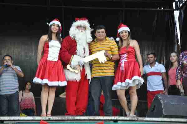 Kerginaldo oficializa a abertura do ciclo natalino com entrega da chave da cidade a Papai Noel