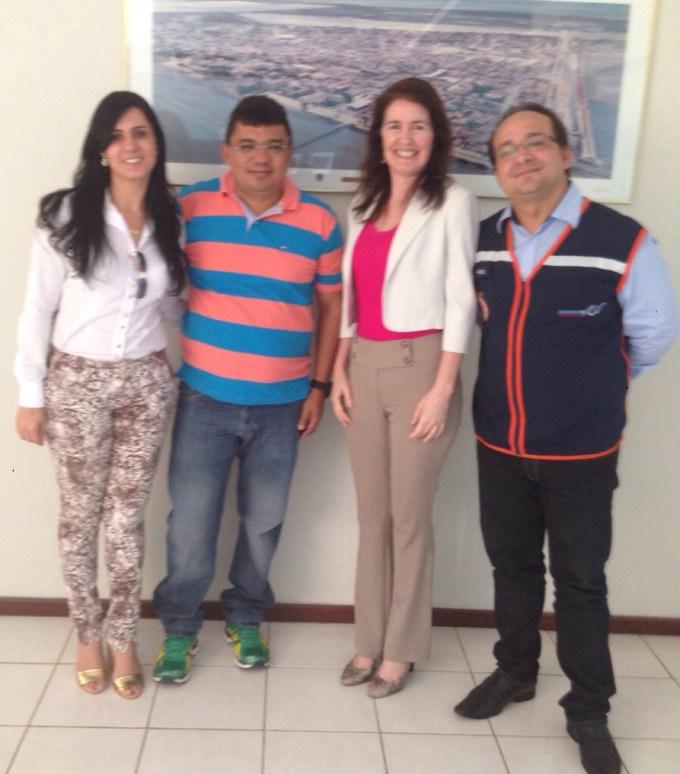 Prefeito Kerginaldo com representantes do SAMU/RN e do ministério da saúde