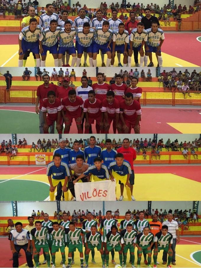 Jogadores com novos uni fores doados pela Prefeitura de Macau