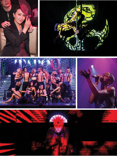 TABOO has attracted quite a number of A-list celebrities for review including international Superstar Ms. Carina Lau (Top Left), Naked Light (Top Right), Trenyce (Middle Right) and Morph (Bottom)