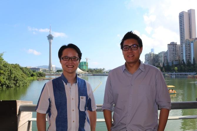 Frederico Santos Rosário (left) and Fernando Pereira