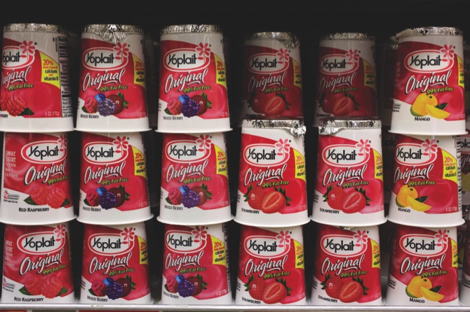 General Mills' Yoplait yogurt on display at a store in Palo Alto