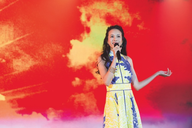 Hong Kong actress and pop star Karen Mok