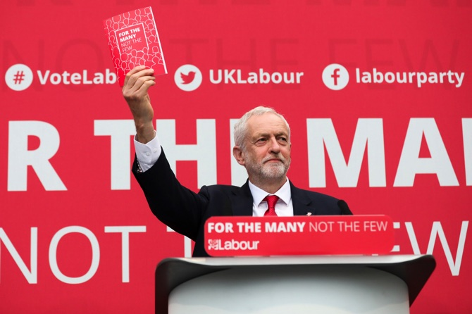Corbyn sets out radical manifesto for United Kingdom polls