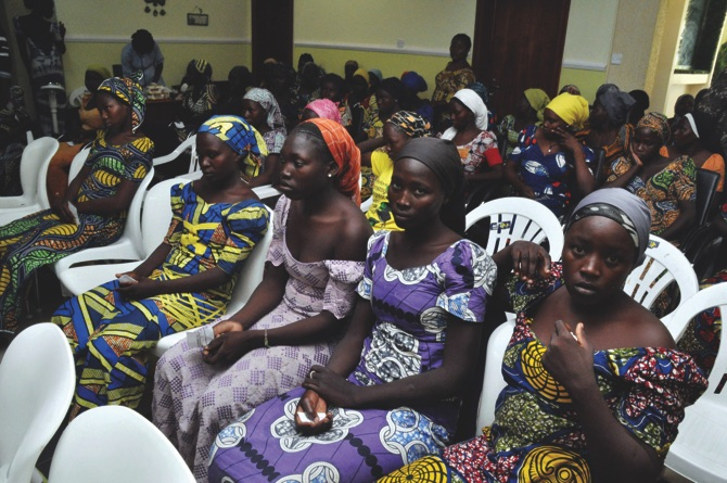 More than 80 Chibok schoolgirls released by Boko Haram arrive in Abuja