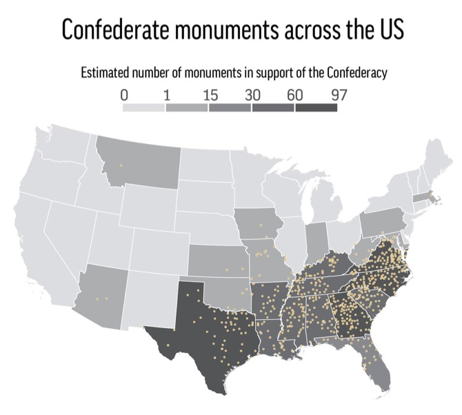 Cities And States Accelerated Their Plans To Remove Confederate Monuments From Public Property Tuesday As The Violence Over A Robert E Lee Statue In