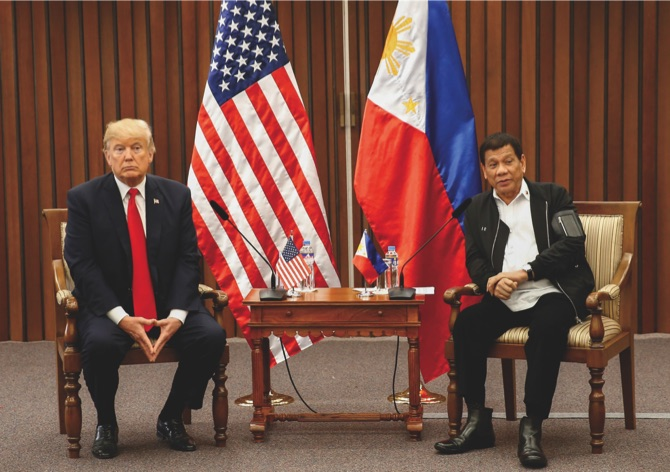 Trump praises relations with Philippines' Duterte