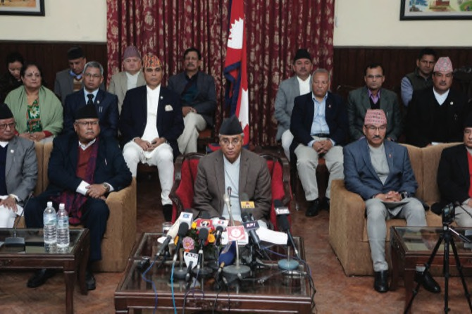 Sher Bahadur Deuba resigns as Prime Minister of Nepal