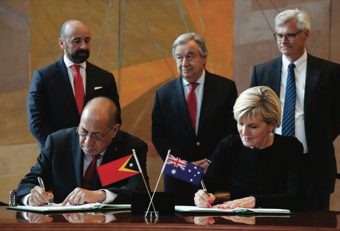 East Timor and Australia sign treaty ending long-running gas dispute
