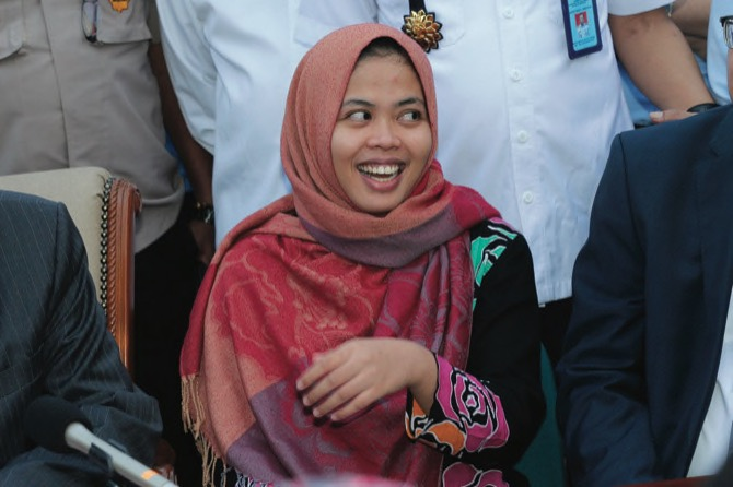 Indonesia town cheers as woman in North Korea murder case is freed