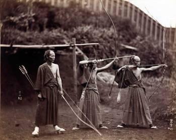 Arcași japonezi - cca 1860