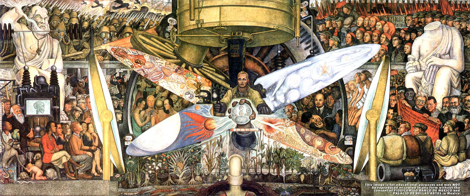 Man at the crossroads, by Diego Rivera