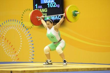 Macau wins gold in weightlifting and Wushu