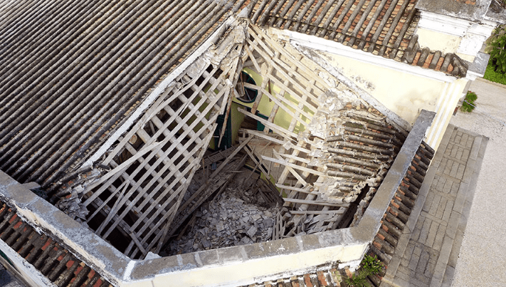 St Augustine's Church, Macau, closed after outbuilding's roof collapse