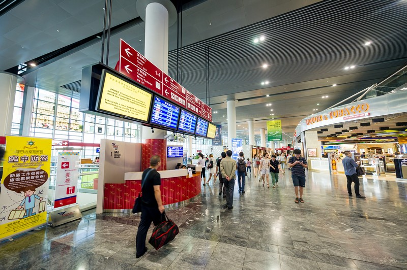 Macau International Airport received over 600,000 passengers  in July