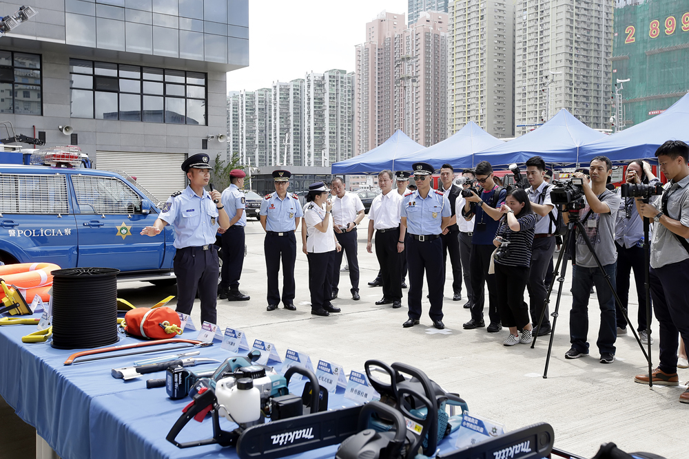 Police show upgraded disaster relief equipment