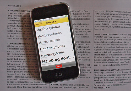 fontshuffle for iphone
